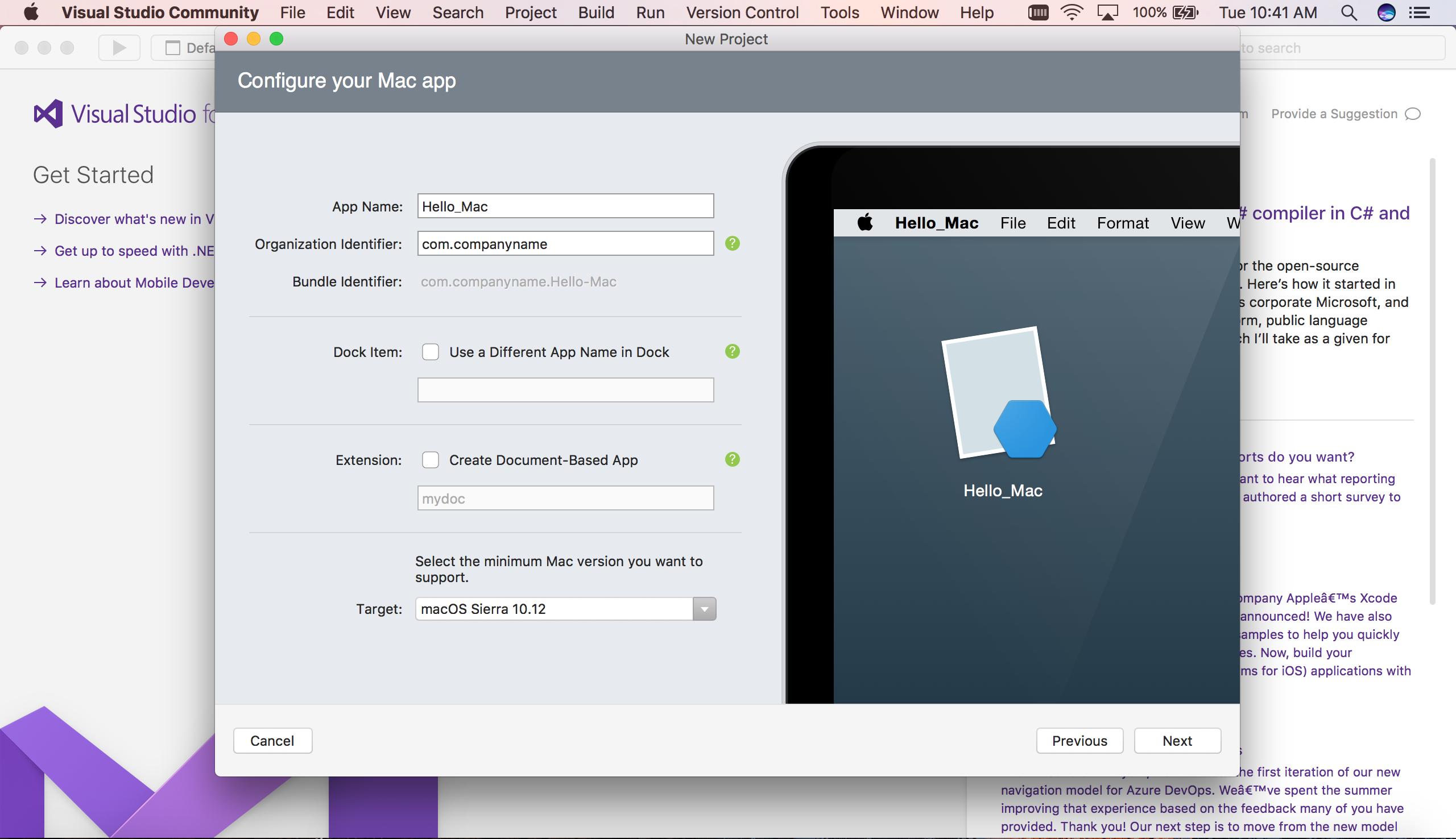 Hello, Mac – Walkthrough - Xamarin   Microsoft Docs