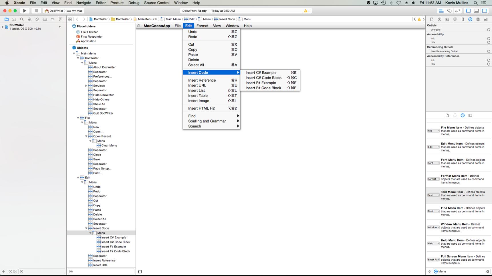 Menus in Xamarin Mac - Xamarin | Microsoft Docs