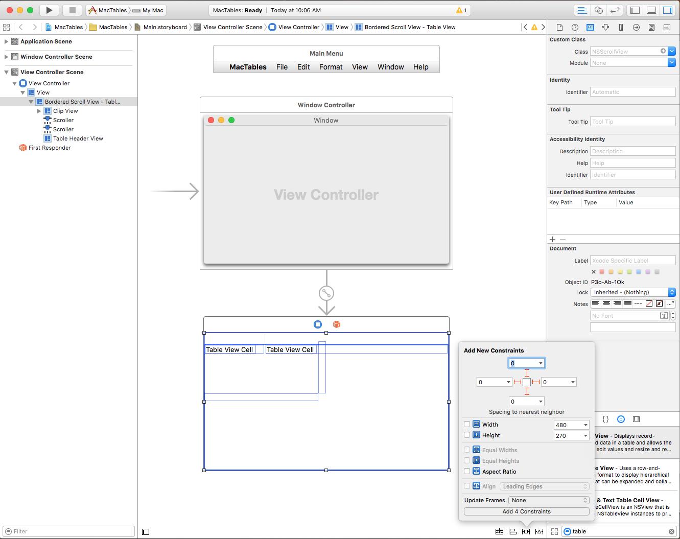 Table Views in Xamarin Mac - Xamarin | Microsoft Docs