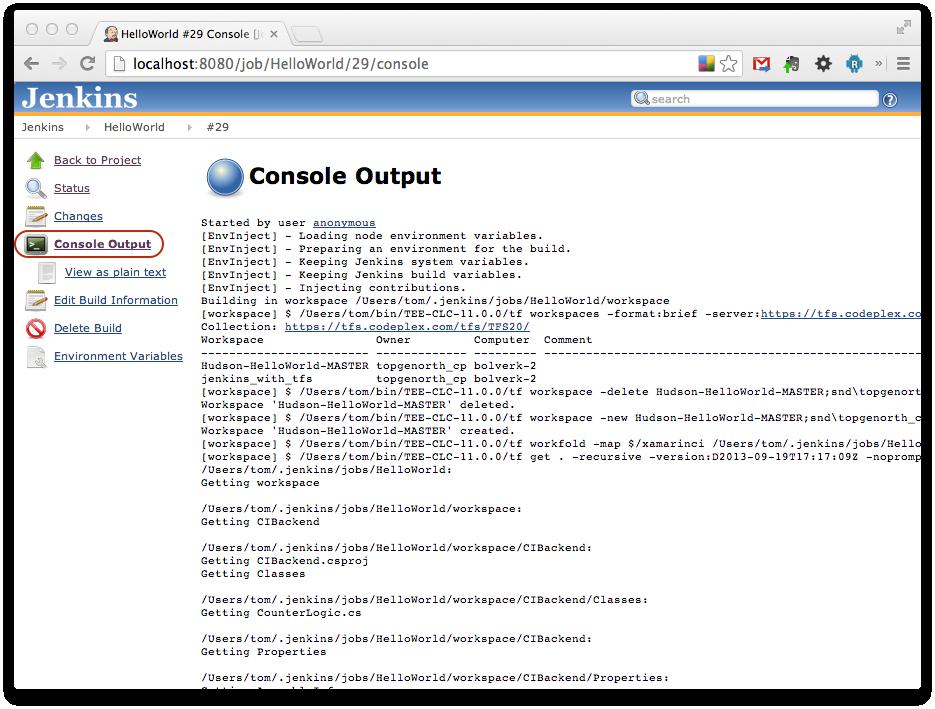 Using Jenkins with Xamarin - Xamarin   Microsoft Docs