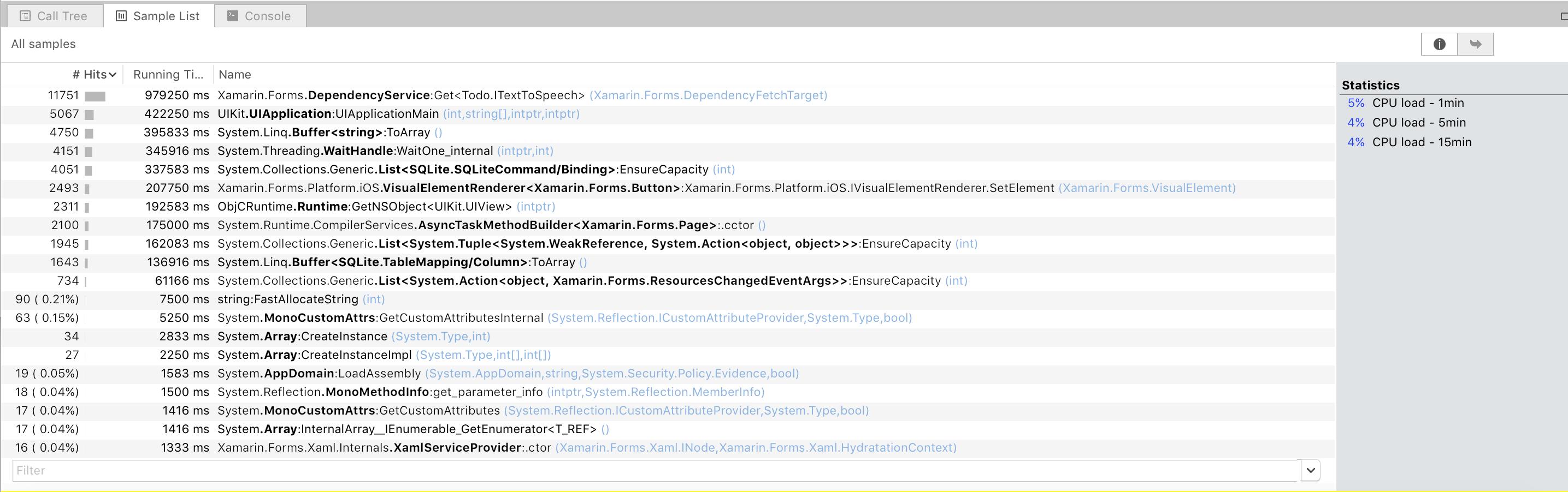 Xamarin Profiler - Xamarin | Microsoft Docs