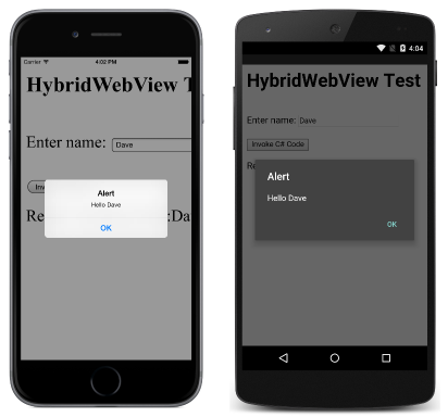 Implementing a HybridWebView - Xamarin | Microsoft Docs