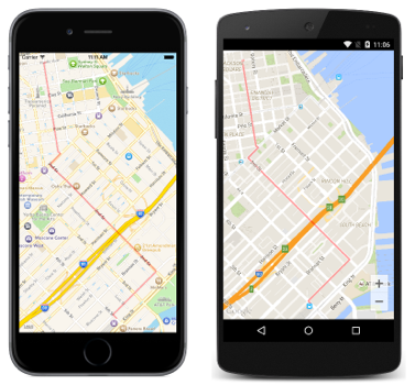 Highlighting a Route on a Map - Xamarin | Microsoft Docs