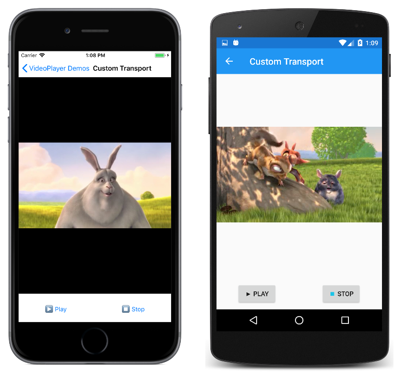 Custom video transport controls - Xamarin | Microsoft Docs