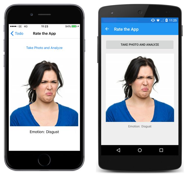 Perceived Emotion Recognition Using the Face API - Xamarin