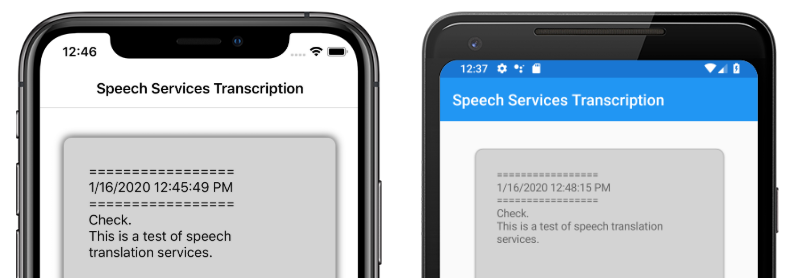 Speeches on service