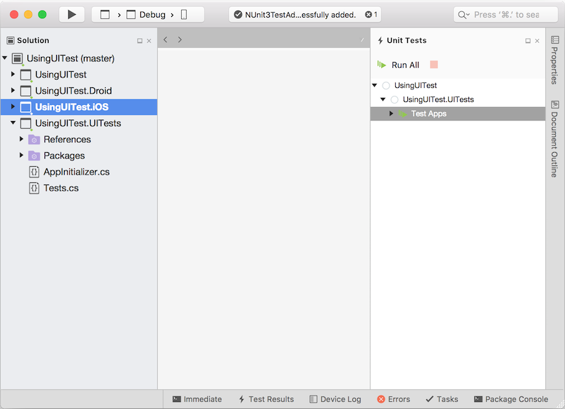 Automating Xamarin.Forms Testing with App Center - Xamarin ...