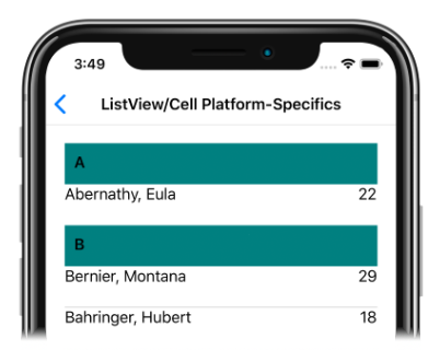 Cell Background Color on iOS - Xamarin | Microsoft Docs