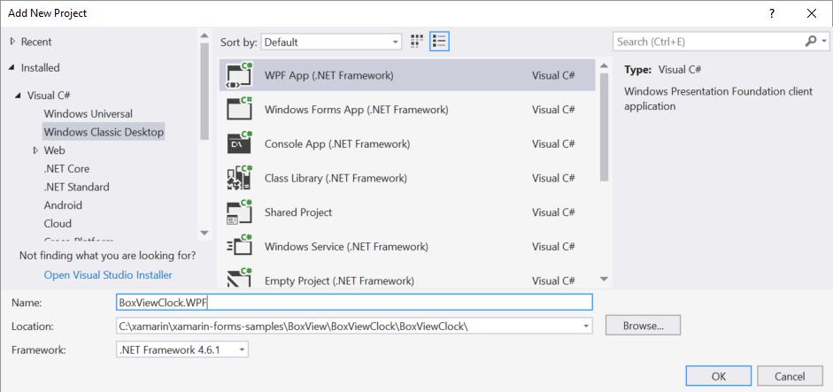 WPF Platform Setup - Xamarin | Microsoft Docs