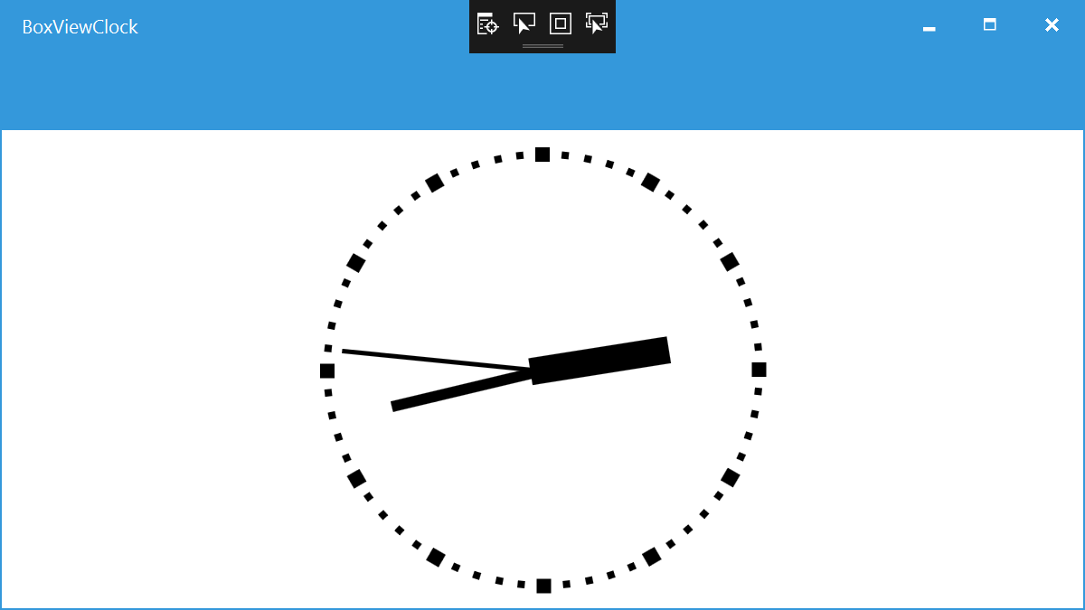 WPF BoxView Clock