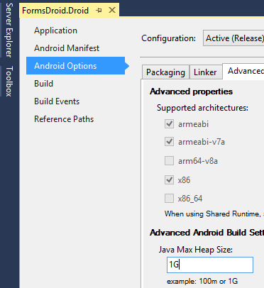 Why does my Xamarin Forms Maps Android project fail with