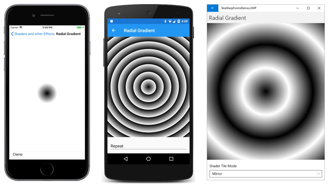 The SkiaSharp circular gradients - Xamarin | Microsoft Docs
