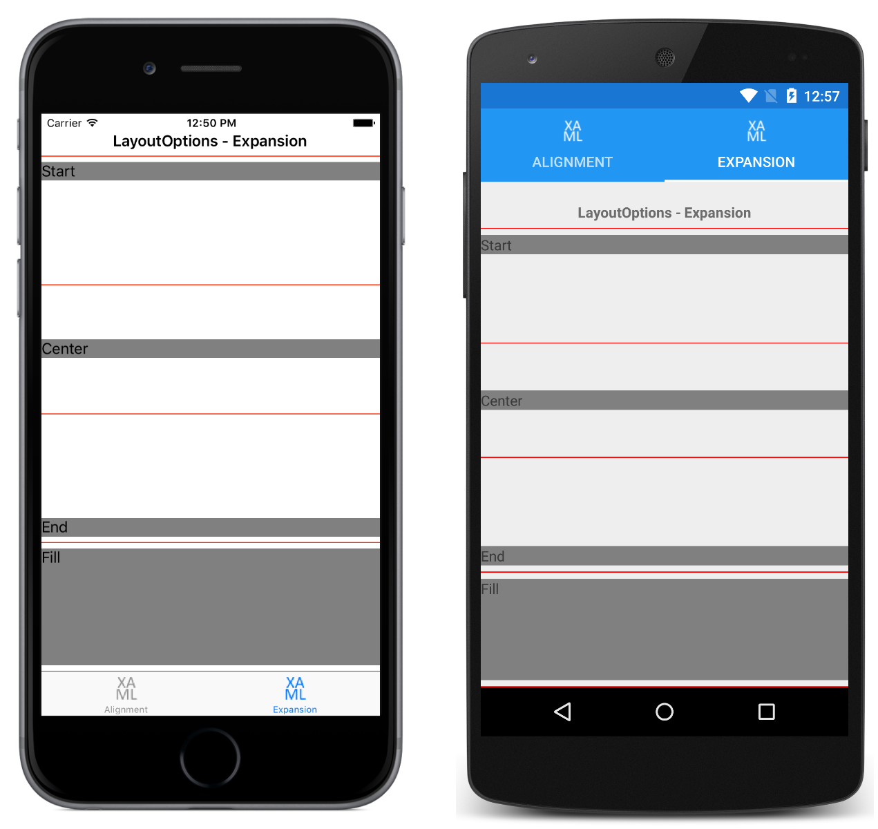 Layout Options in Xamarin Forms - Xamarin | Microsoft Docs