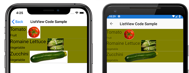 Customizing ListView Cell Appearance - Xamarin | Microsoft Docs