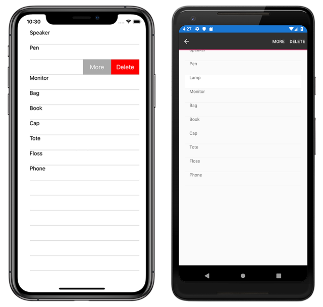 context-default Xamarin Forms List View Example on forms listview, settings page, forms search box, forms master-detail, profile codes, forms filtering, shell title view, tablet application, forms navigation, login page border, custom renderer,