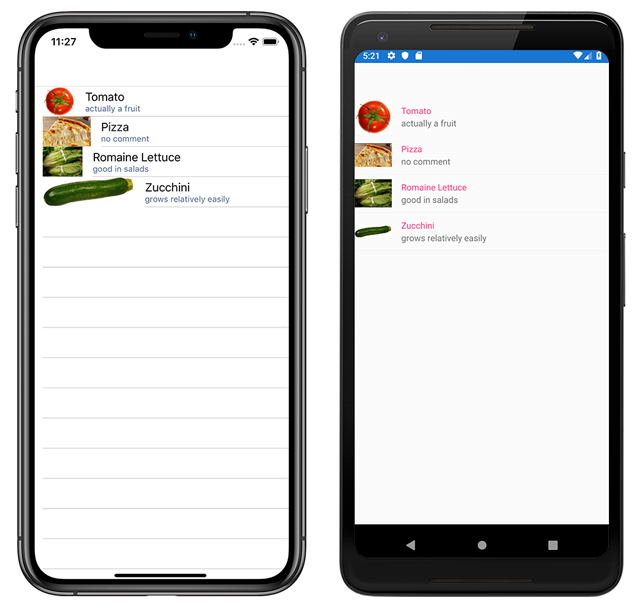 image-cell-default Xamarin Forms List View Example on forms listview, settings page, forms search box, forms master-detail, profile codes, forms filtering, shell title view, tablet application, forms navigation, login page border, custom renderer,