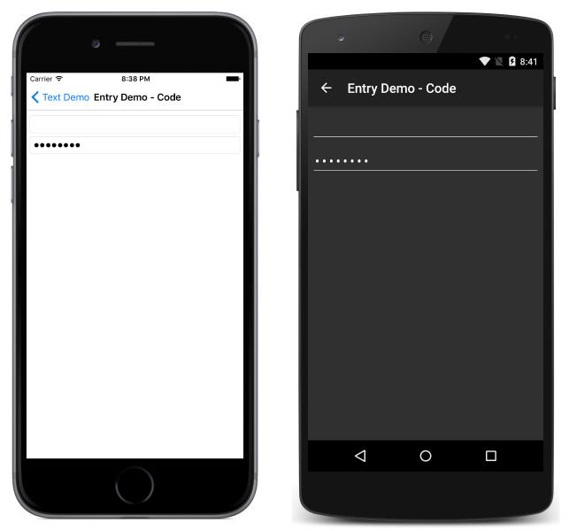 Xamarin Forms Entry - Xamarin | Microsoft Docs