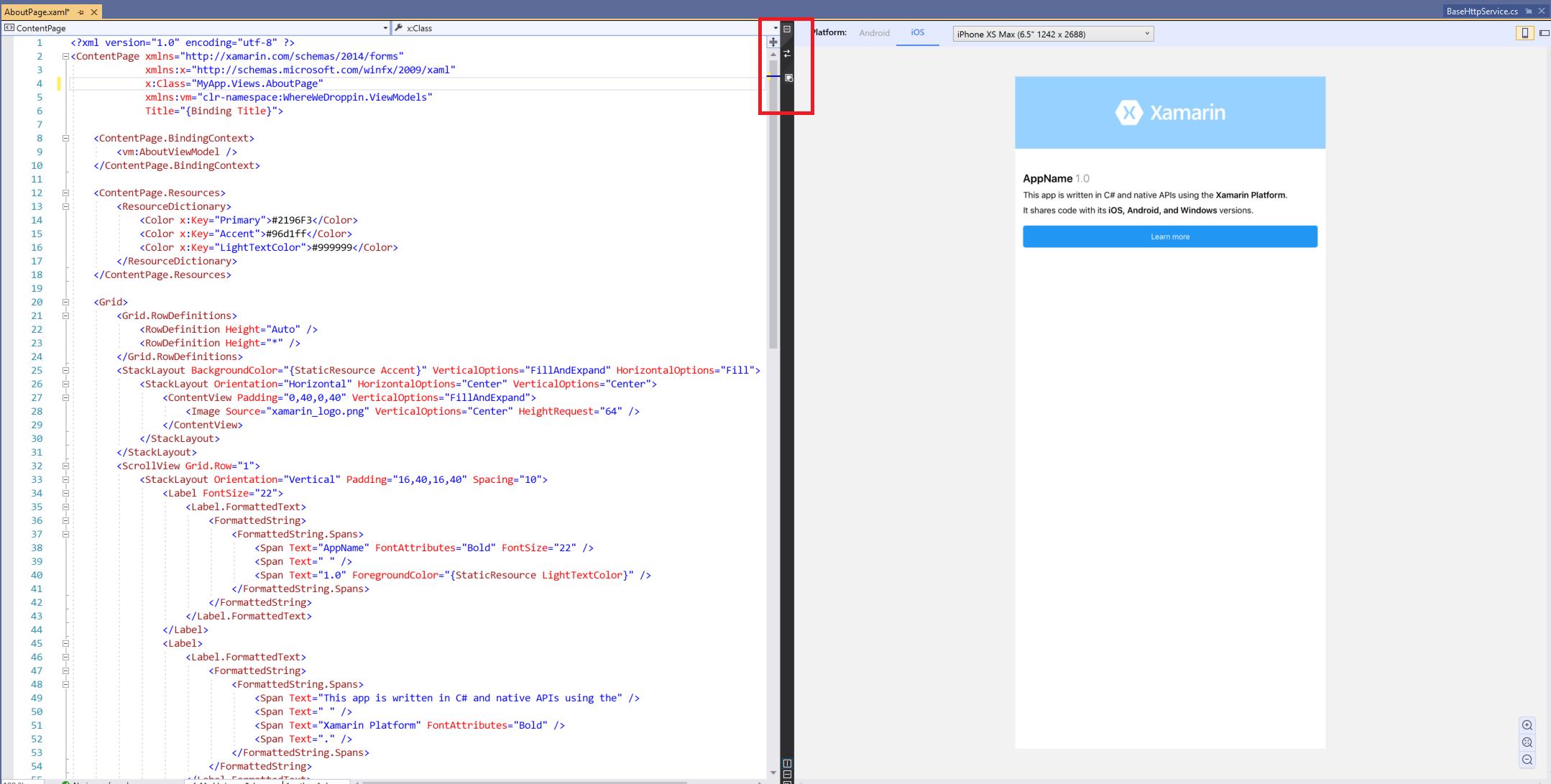 XAML Previewer for Xamarin Forms - Xamarin | Microsoft Docs