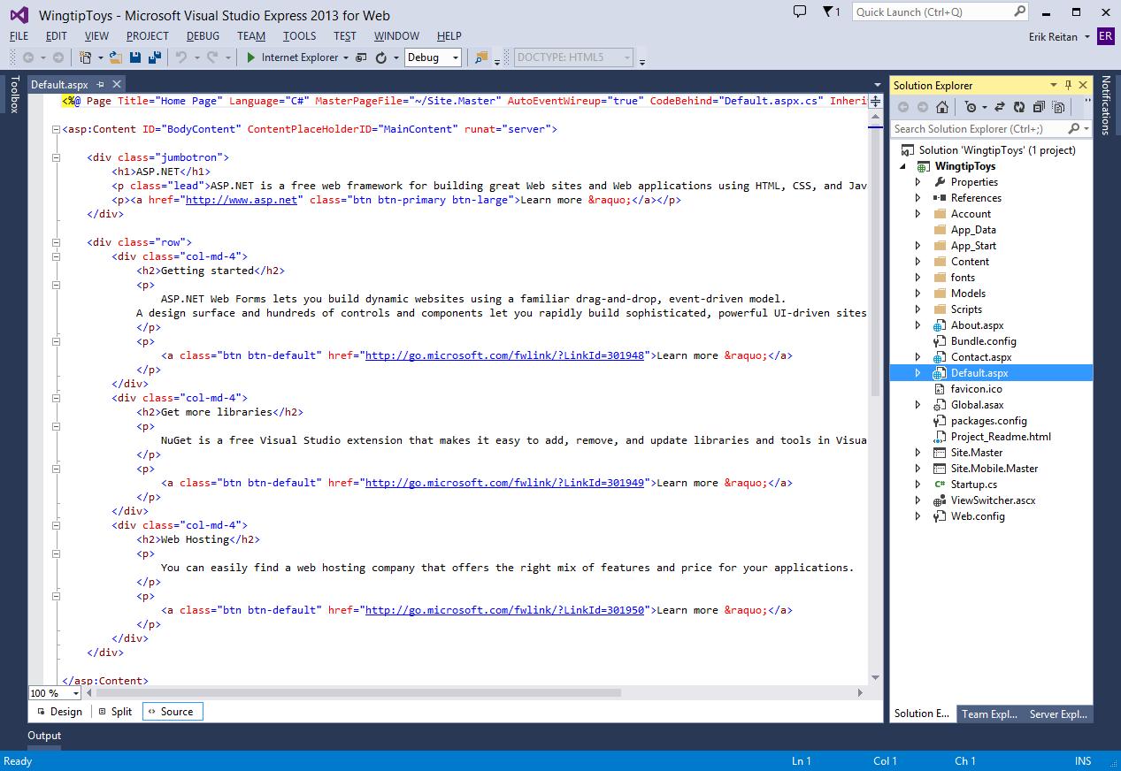 Crear el proyecto   Microsoft Docs