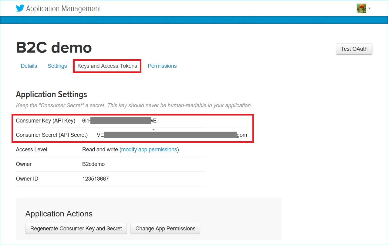 Adición de Twitter como un proveedor de identidades de OAuth1 ...