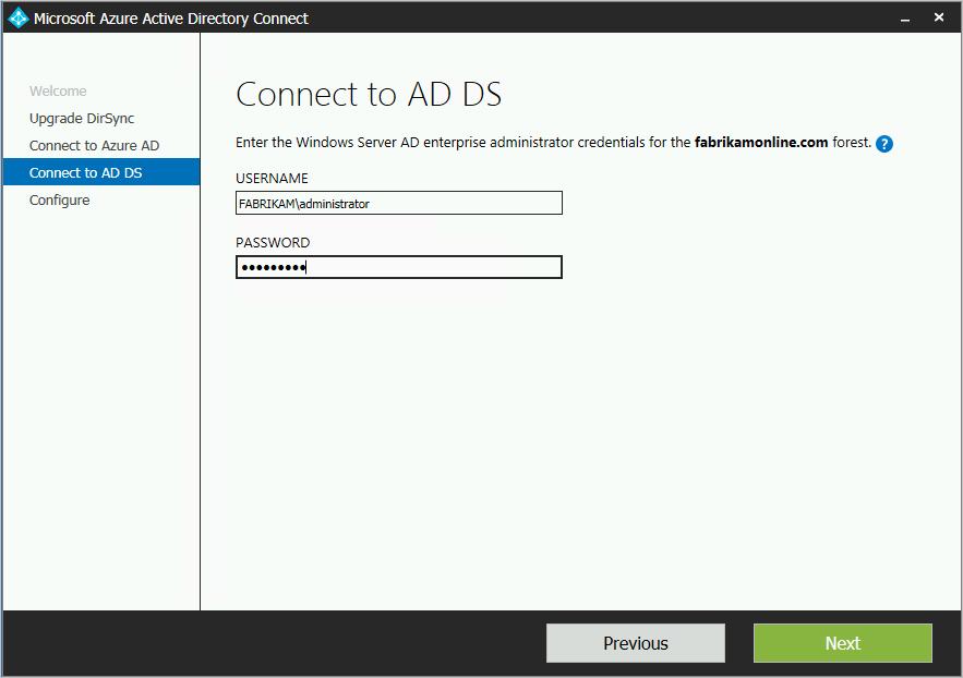 Azure AD Connect: actualización desde DirSync   Microsoft Docs