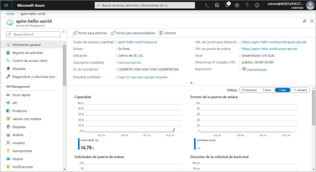 Creación de una instancia de Azure API Management | Microsoft Docs