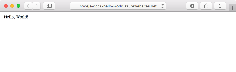 Aplicación de ejemplo que se ejecuta en Azure