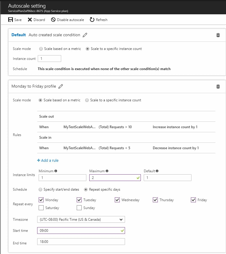 Autoscale Azure resources based on performance data or a schedule ...
