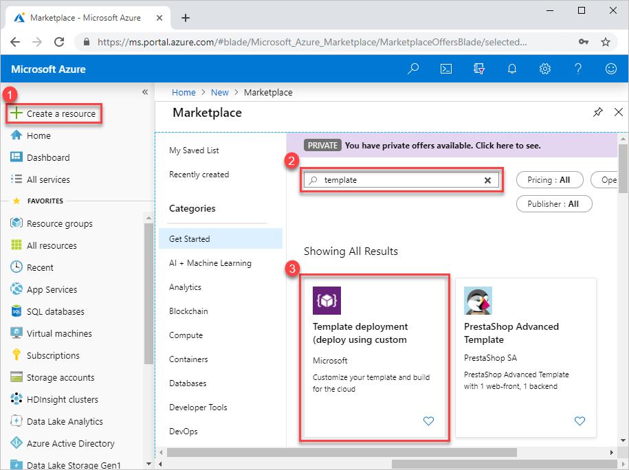 Uso de Azure Portal para implementar los recursos de Azure ...