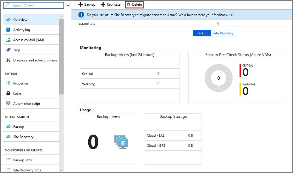 hacer clic en Detener copia de seguridad para eliminar el almacén