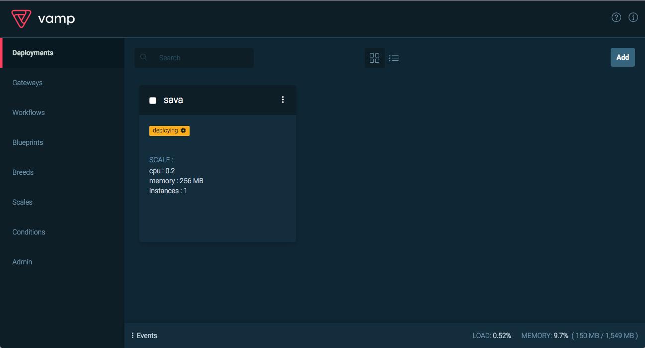Lanzamiento controlado con vamp en un clster de dcos en azure interfaz de usuario de vamp implementar sava malvernweather Gallery