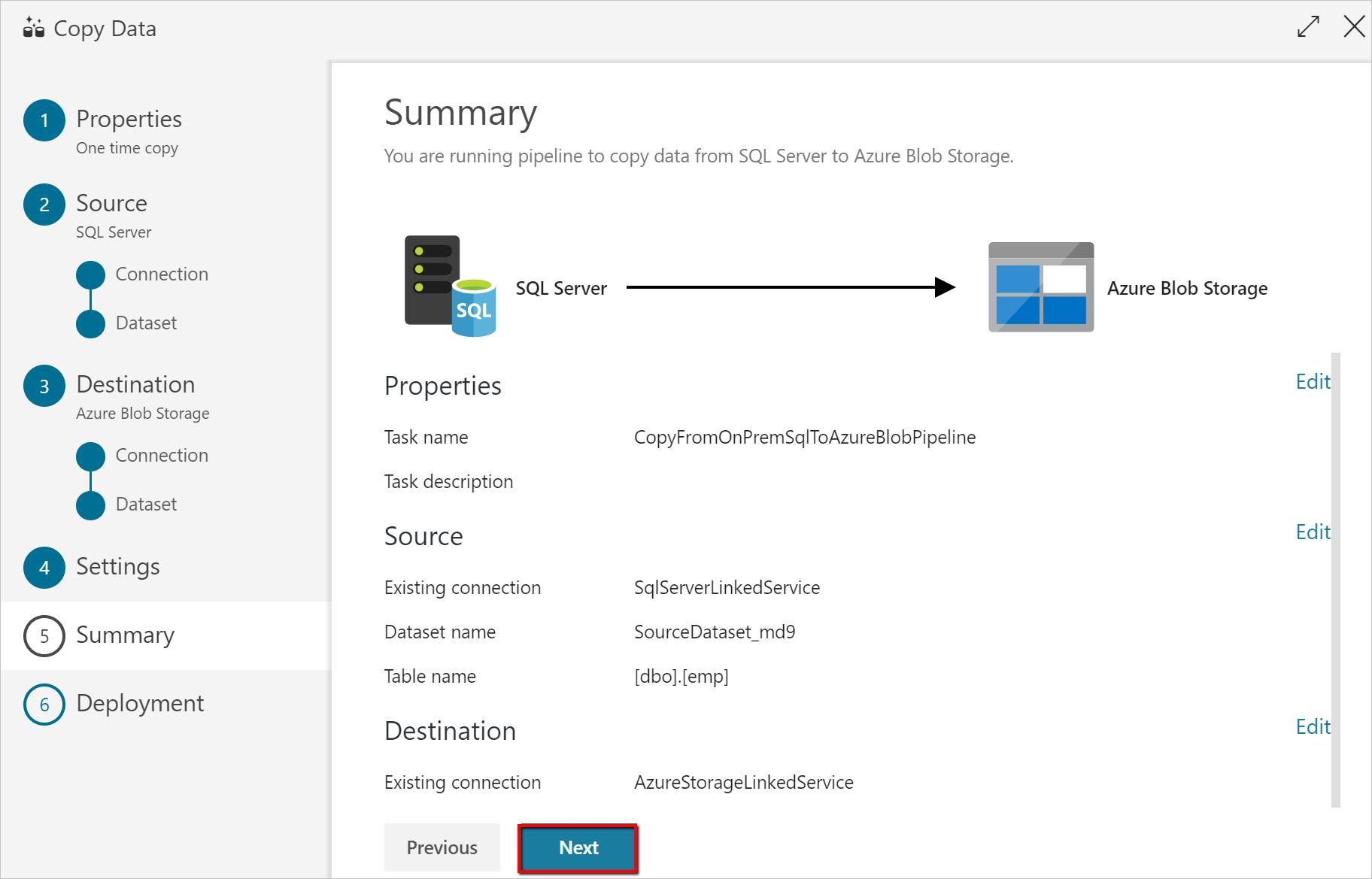 Copia de datos locales con la herramienta Copy Data de Azure ...