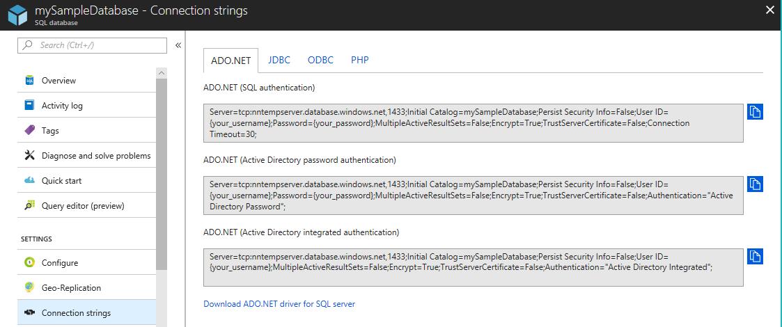 Corrección de un error de conexión de SQL, error ...