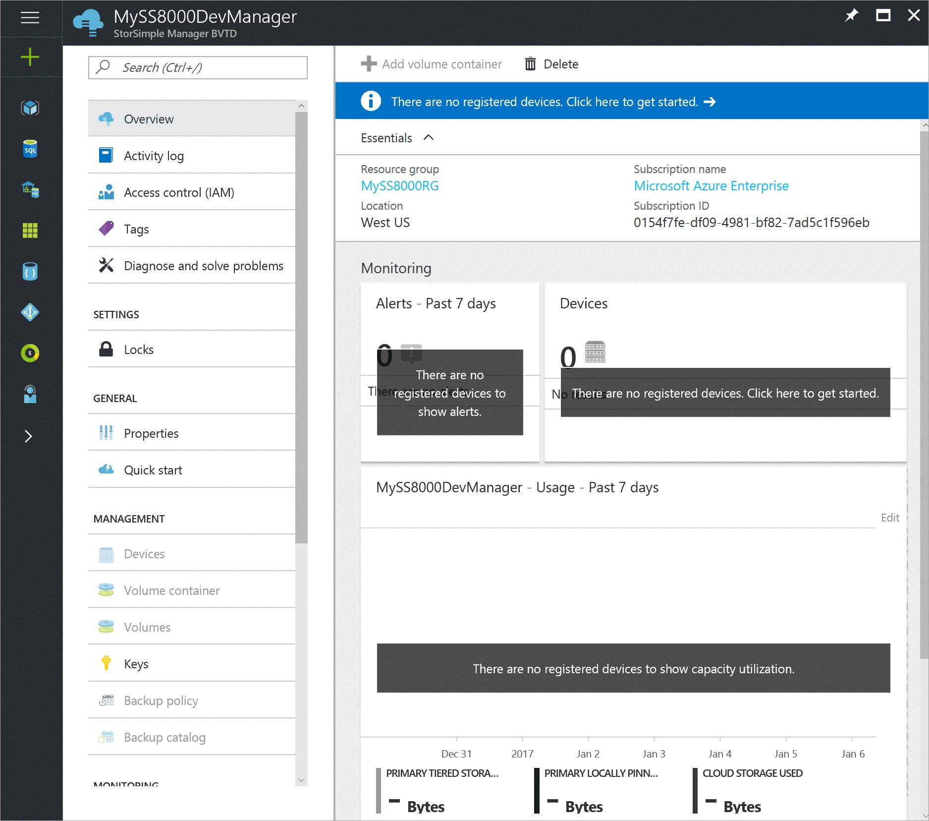 Implementación del dispositivo StorSimple 8000 series en Azure ...