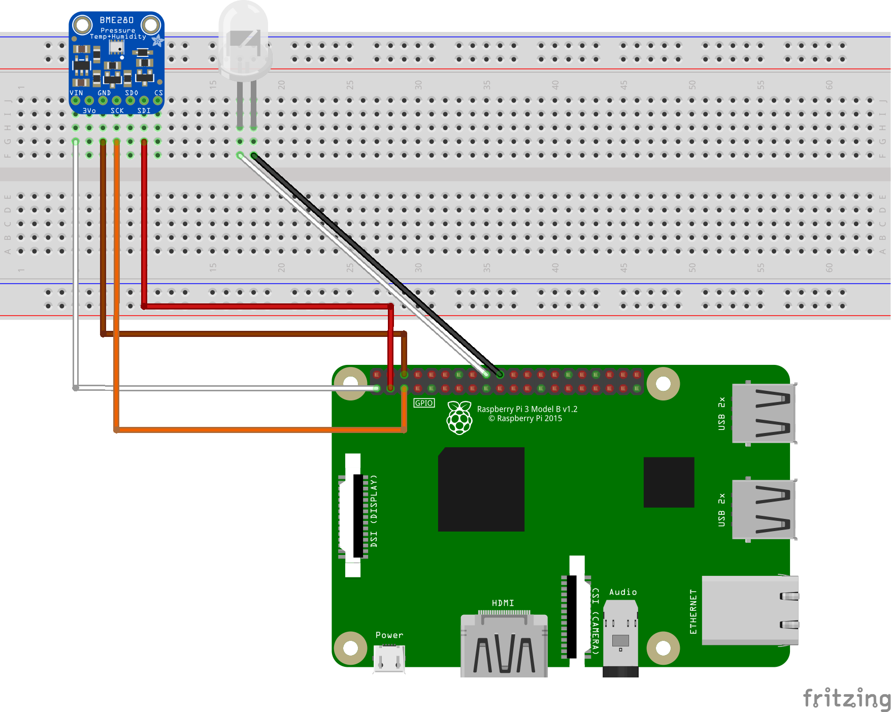Conexión de Raspberry Pi y el sensor