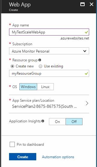 Creación de un nuevo servicio de aplicación en el portal
