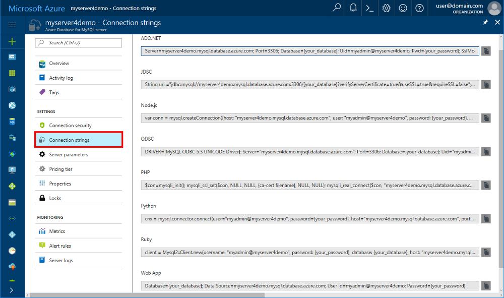 Lista Pnl Europarlamentare Detail: Conexión De Aplicaciones A Azure Database For MySQL