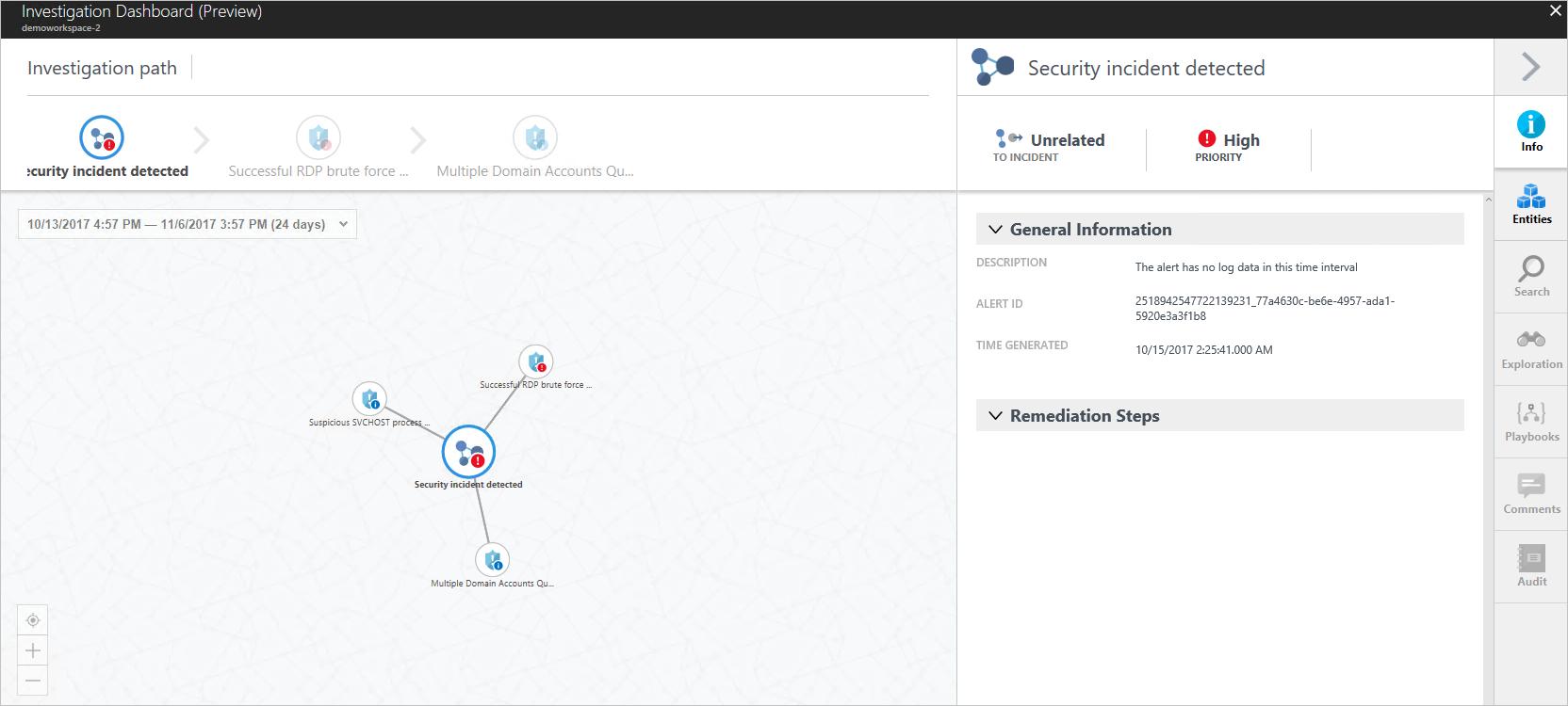 Tutorial de Azure Security Center: respuesta a incidentes ...