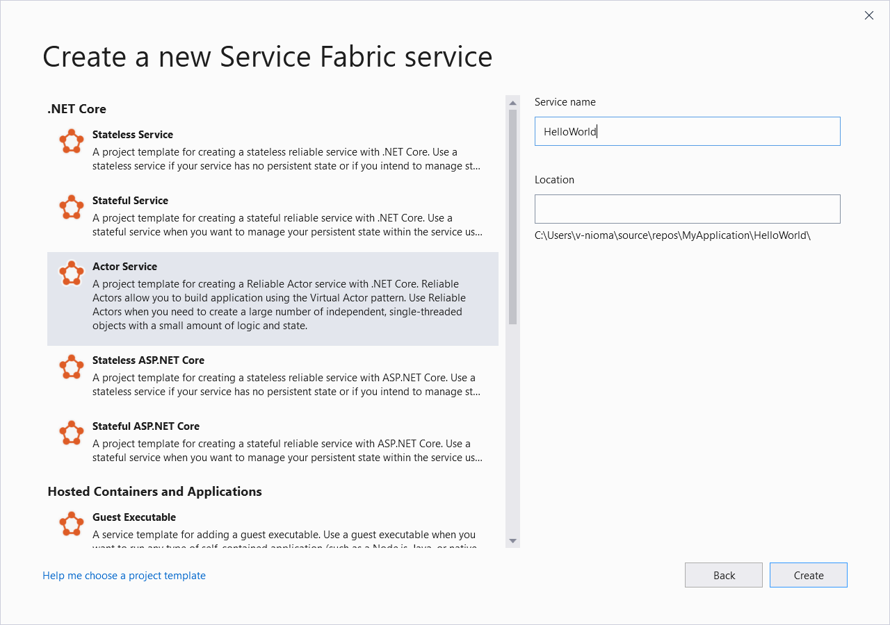 Creación del primer microservicio de Azure basado en actores en C# ...