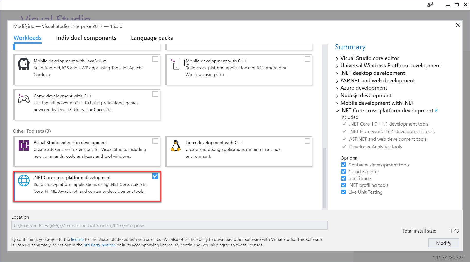 Requisitos previos para .NET Core en Windows | Microsoft Docs