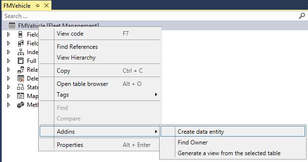 create data entity