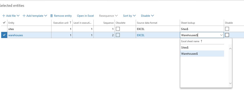 Importar datos de las plantillas de la entidad de los datos de Excel ...