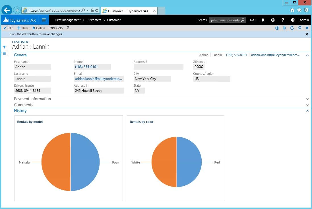 Fleet Management sample application - Finance & Operations ...