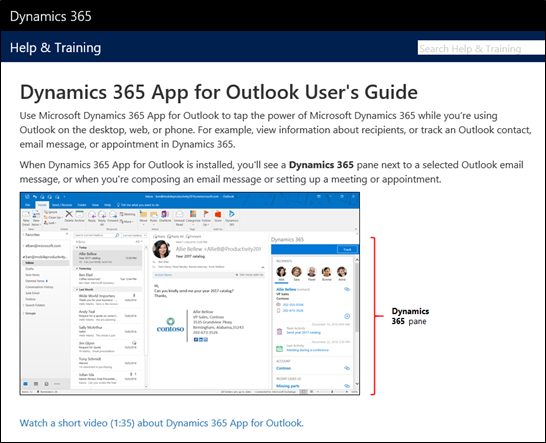 Implementar Dynamics 365 App For Outlook Microsoft Docs