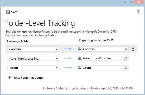 Seguimiento de correo electrónico de Outlook moviéndolo a una ...