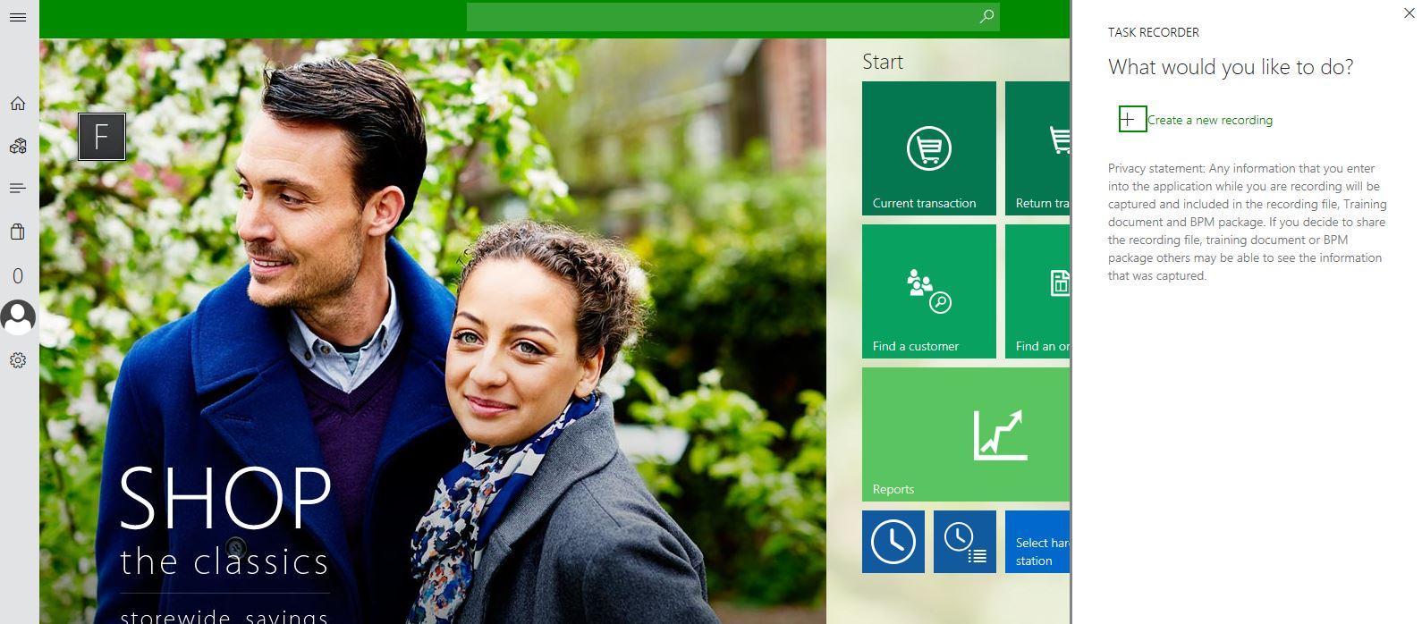 Grabador de tareas y ayuda para Retail Modern POS (MPOS) y Cloud POS ...