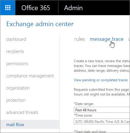 Ejecutar un seguimiento de mensajes y ver los resultados | Microsoft ...