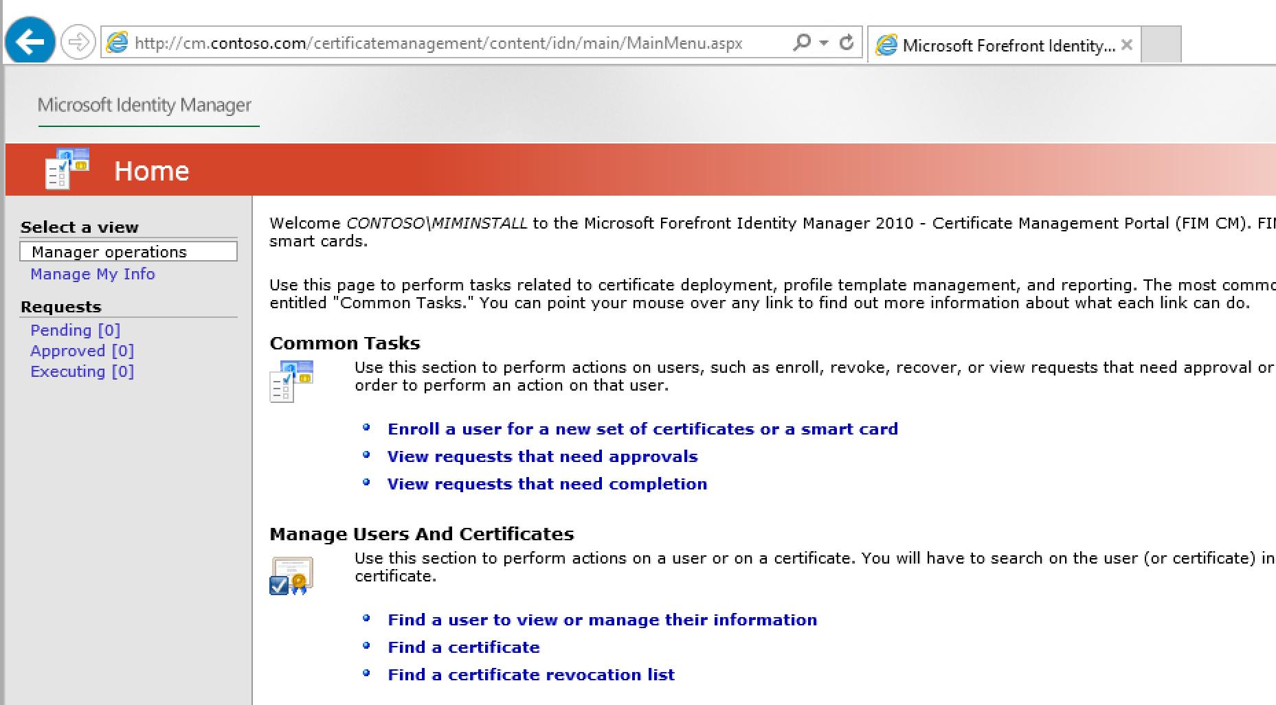 Implementación del administrador de certificados de Microsoft ...