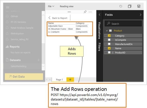 Agregar filas a una tabla - Power BI   Microsoft Docs