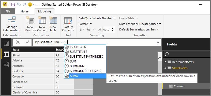 Introducción a DAX - Power BI | Microsoft Docs